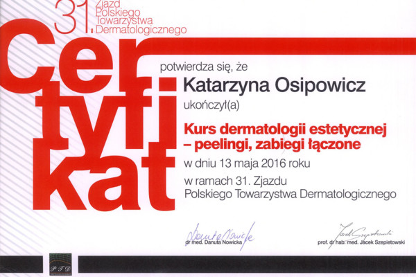 certyfikat 22